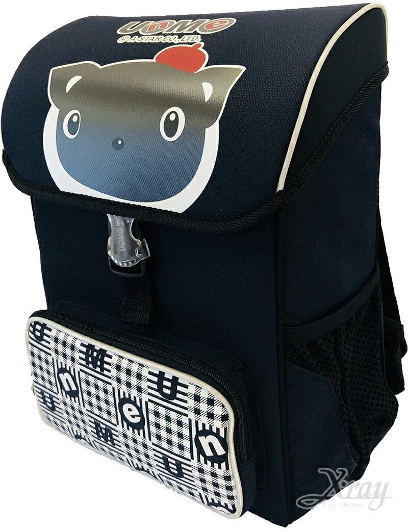 um立體肩帶護脊輕巧書包-深藍台灣製造,開學必備/護脊書包/書包/後背包/背包/便當盒袋/書包雨衣/補習袋/輕量書包/拉桿書包,X射線【C892369】