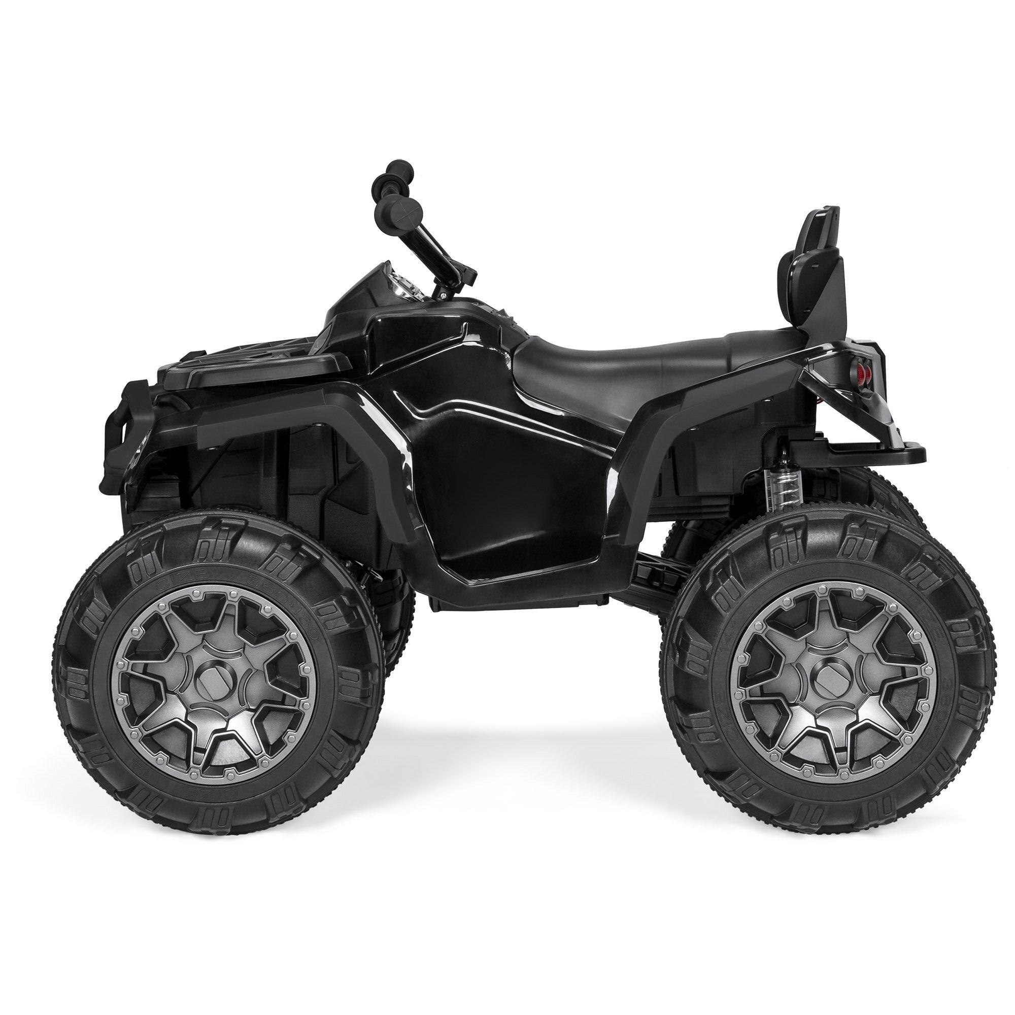 Best Choice Products 12V Kids 4-Wheeler ATV Quad Ride-On Car Toy w/ 3 7mph  Max, LED Headlights, AUX Jack, Radio - Black