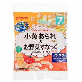 *美馨兒*貝親PIGEON-小魚米果球&紅蘿蔔蕃茄點心寶寶餅乾(7個月以上適用)110元