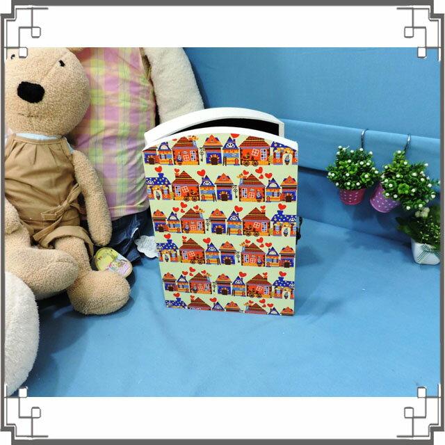 皮革KEY BOX《LK23-2》滿版房屋木製皮革鑰匙盒 收納盒 壁櫃 壁飾 居家布置◤彩虹森林◥