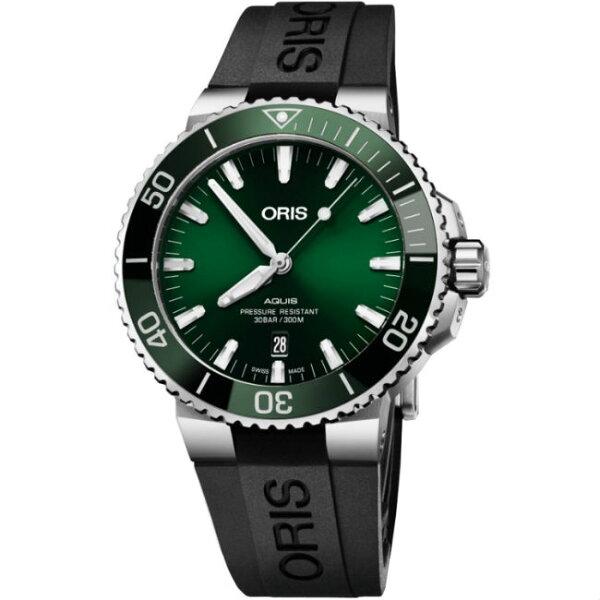 ORIS豪利時OrisAquis時間之海0173377304157-0742464EB潛水機械腕錶43.5mm