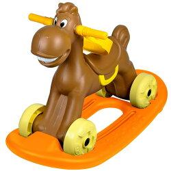 寶貝樂 可愛小馬學步車/助步車附搖搖板-咖啡(BTCA20AK)