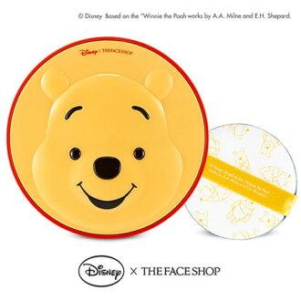 韓國 THE FACE SHOP 迪士尼聯名 CC保濕降溫感氣墊粉餅(維尼) 氣墊粉餅 小熊維尼 維尼熊【B062061】