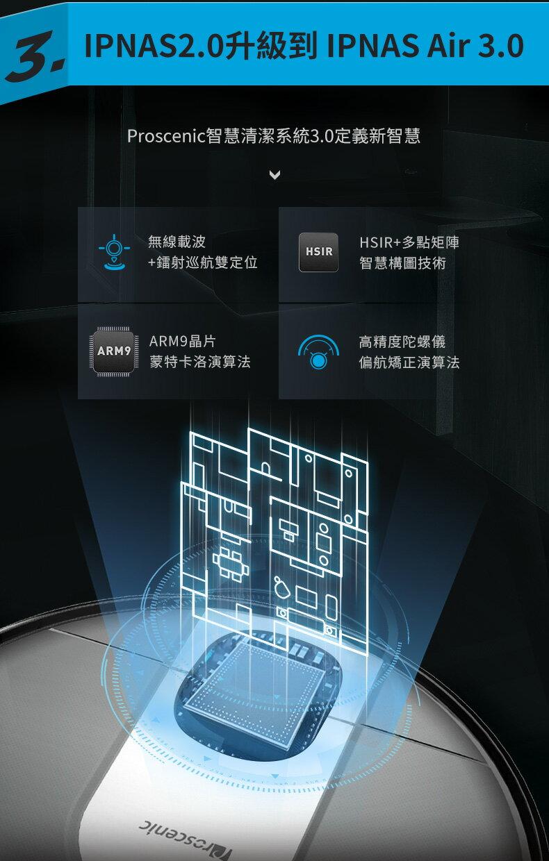 領券再折$168【Proscenic】台灣浦桑尼克 M7 WIFI雷射導航智慧型掃地機器人 6