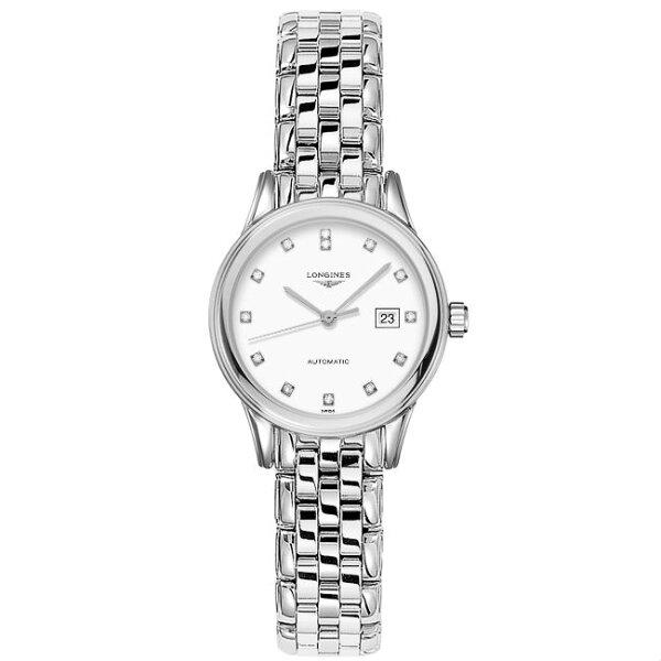 LONGINES浪琴表L43744276旗艦系列珍鑽經典腕錶白面30mm