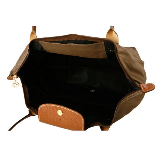 [長柄M號]國外Outlet代購正品 法國巴黎 Longchamp [1899-M號] 長柄 購物袋防水尼龍手提肩背水餃包 枯葉草 3