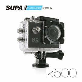 弘瀚科技SUPA 速霸 K500 1080P 極限運動防水型攝影機 汽機車兩用(送16G TF卡)