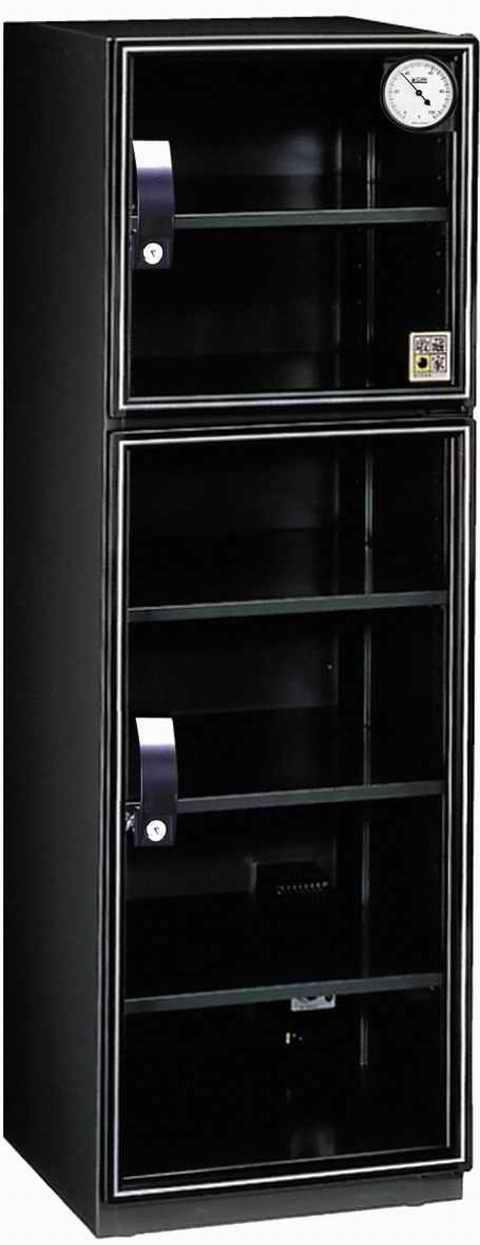弘瀚--收藏家 AX-180 雙門六層美背式電子防潮箱《163公升》