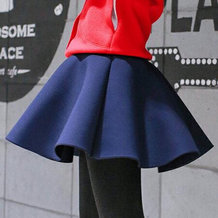 SISI【P6012】俏麗裙襬立體空氣感太空棉傘襬蓬蓬裙半身短裙