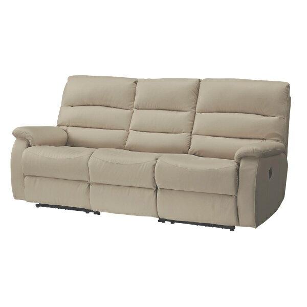 ◎(OUTLET)全皮3人用頂級電動可躺式沙發 BELIEVER MO 福利品 NITORI宜得利家居 2