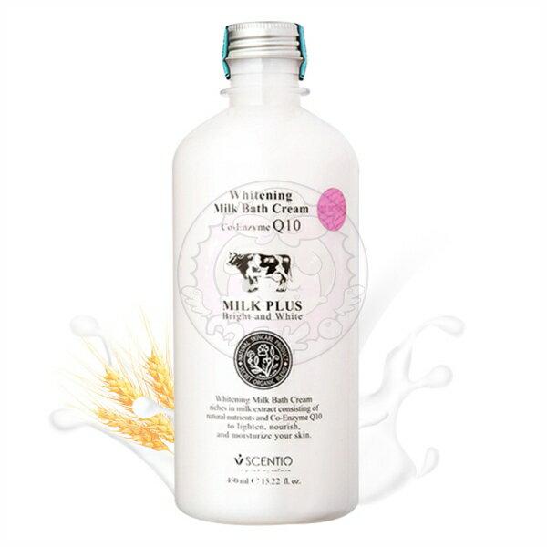 泰國正品~SCENTIO Q10 牛奶嫩白保濕沐浴乳 450ml
