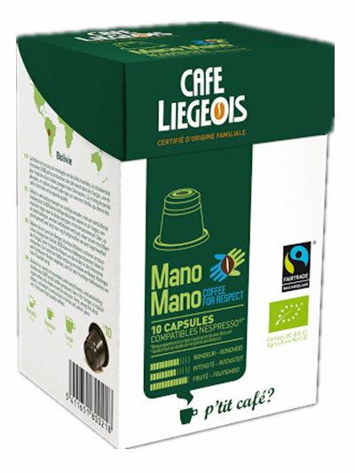 Liegeois 比利時 烈日咖啡膠囊~~ 瑪諾咖啡 Mano Mano  歐盟有機  公