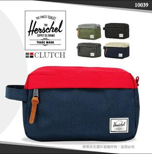 《熊熊先生》加拿大潮流品牌Herschel素色手提包防潑水尼龍收納包皮革拉鍊大容量隨身包10039