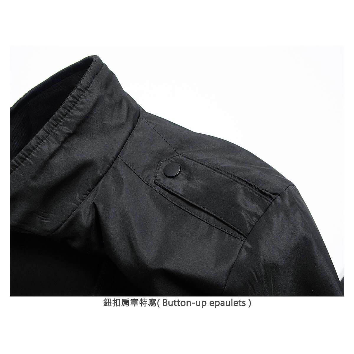 軍裝外套 修身夾克外套 立領素面外套 鈕扣肩章外套 格紋內裡薄外套 防風外套 潮流時尚休閒外套 風衣外套 黑色外套 Military Jacket Men's Jackets Windproof Jackets Button-up Epaulets (321-8025-01)咖啡色、(321-8025-02)藍綠色(321-8025-04)黑色  L XL 2L 3L 4L (胸圍109~124公分  43~49英吋) 男 [實體店面保障] sun-e 8