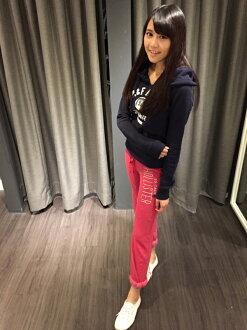 [麋鹿美國精品]HOLLISTER HCO 女 休閒長褲 棉褲 粉紅