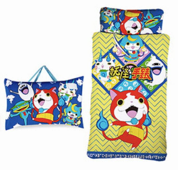 妖怪手錶【嫁妝寢具】卡通兒童幼稚園睡袋 /兩用可拆洗睡袋/台灣製造
