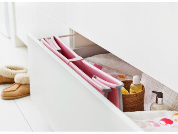 丹麥Flexi Bath 嬰幼兒折疊式浴盆 折疊浴盆 多功能浴盆 攜帶式浴盆【嬰兒粉色】