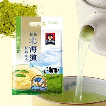 安康藥妝 桂格 北海道鮮綠抹茶鮮奶麥片28g*12入/ 袋