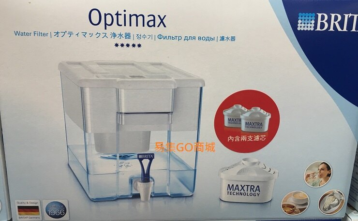 易集GO商城-代購~BRITA OPTIMAX 桌上型濾水箱8.5公升(內附新款濾心2個)-65496