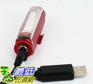 [106玉山最低比價網] 單車 100流明 USB充電 前燈 車尾燈 警示照明燈 紅 802439