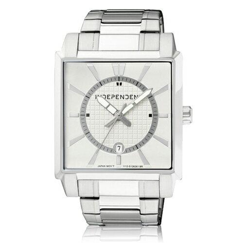 CITIZEN 星辰錶 INDEPENDENT IB5-217-11 方型穩重時尚科技感計時腕錶 銀
