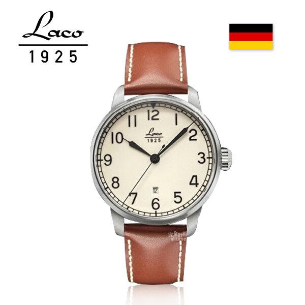 【完全計時】手錶館│Laco朗坤德國工藝Valencia全版夜光軍事風格機械錶42mm(861651)特價79折