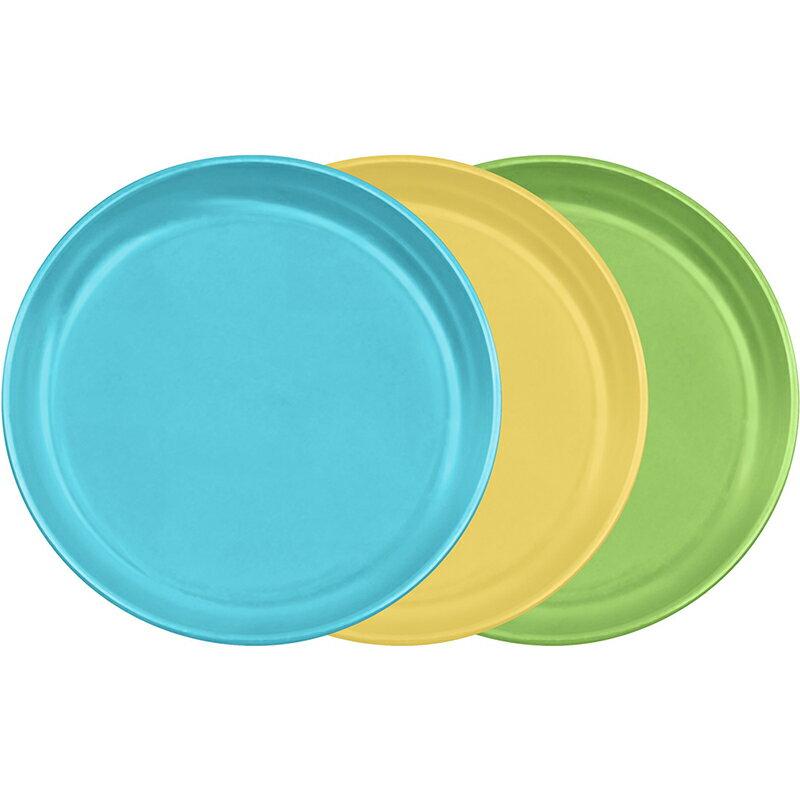 【愛寶貝】美國 green sprouts 外出旅行食物盤3入組_水藍組_GS152690-2