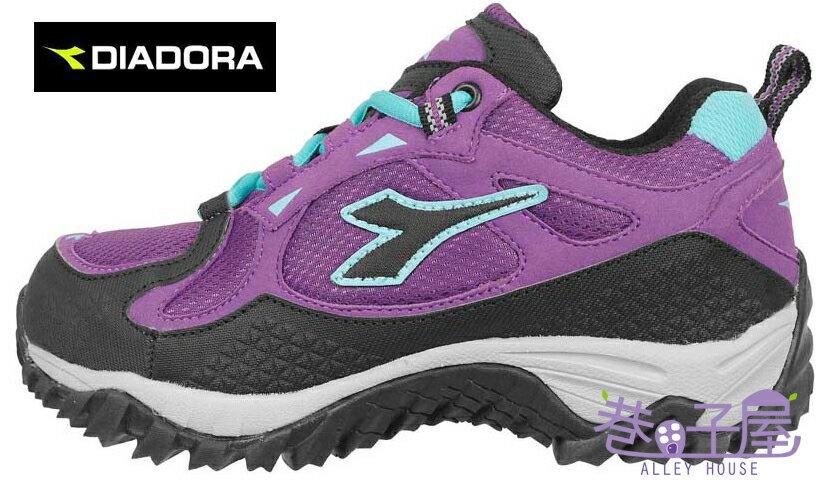 【巷子屋】義大利國寶鞋-DIADORA迪亞多納 戶外野趣 女款乳膠動能抗水越野跑鞋 [3117] 紫 超值價$896