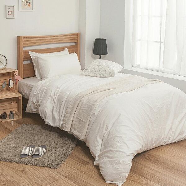 戀家小舖:床包被套組雙人特大-100%精梳棉【素色系列-白色】含兩件枕套,戀家小舖,台灣製SS01-AAA512