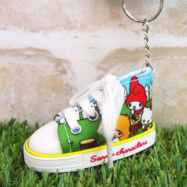 99元免運 凱蒂貓 帆布鞋鑰匙圈 三麗鷗 好朋友款 Kitty Sanrio 日本正版 該該貝比日本精品
