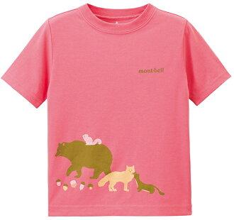 Mont-Bell 兒童排汗短T 幼童排汗衣 Wickron 1114217 RSPK 山的朋友 玫粉