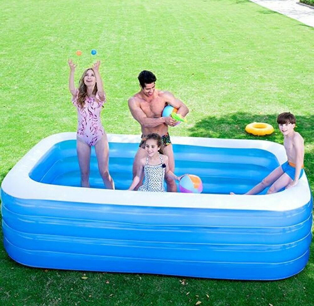 充氣泳池 超大號水上樂園兒童游泳池家用寶寶兒童充氣加厚成人家庭水池【天天特賣工廠店】