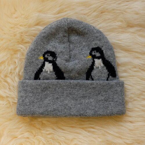Any美麗新世界:紐西蘭100%純羊毛帽*灰色(企鵝)