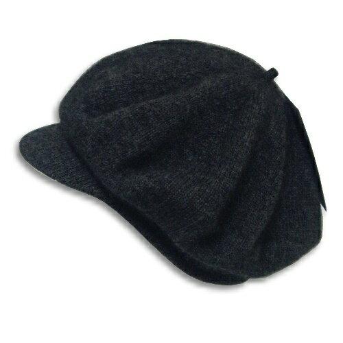 紐西蘭貂毛羊毛帽*小帽緣貝蕾帽_炭灰色