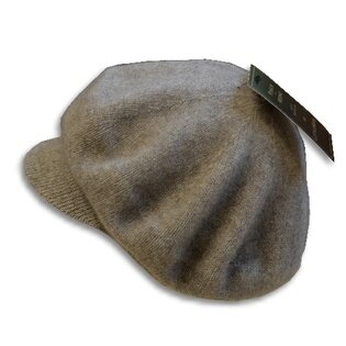 Any美麗新世界:紐西蘭貂毛羊毛帽*小帽緣貝蕾帽_天然色奶茶色