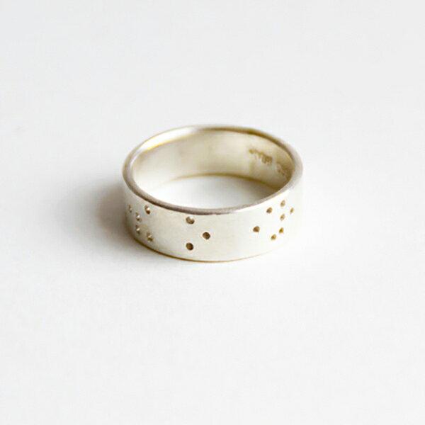 [UNIDO] 原創手作 「我愛你」點字99純銀戒指-單只戒指/ 尺寸定製/ 刻字服務/ 定情戒/ 友情戒/ 情人節禮物