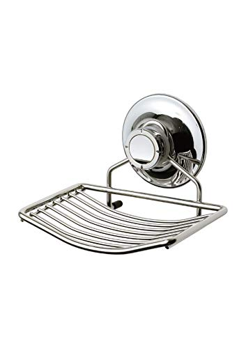 Soap Dish Suction Cup, Stainless Steel Holder With Powerful Vacuum Suction  For Bathroom, Shower, Kitchen