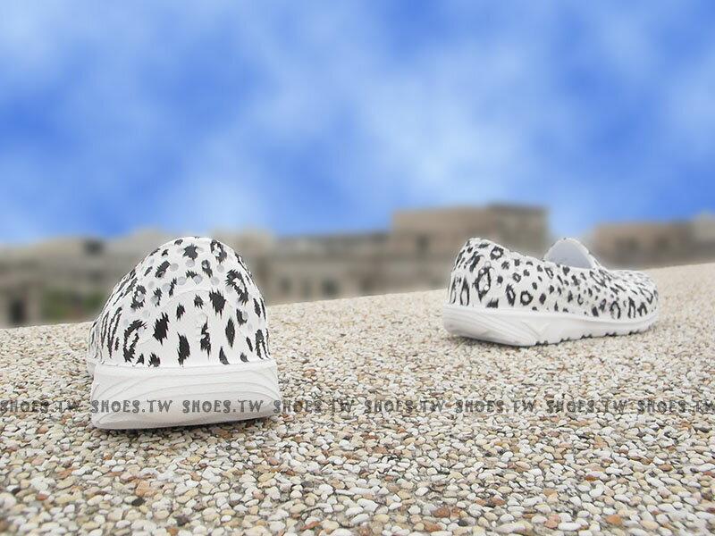 《下殺5折》Shoestw【62K1SA65RW】PONY TROPIC 水鞋 童鞋 軟Q 防水 洞洞鞋 白豹紋 親子鞋 2