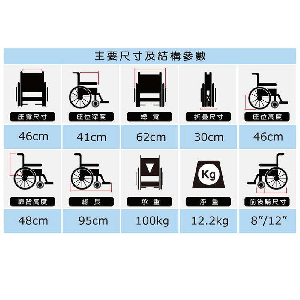 必翔銀髮 移位型看護輪椅 PH-183BF (未滅菌) 輪椅 【生活ODOKE】