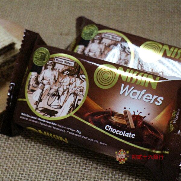【0216零食會社】悅情_NISSIN威化餅(巧克力)(奶素)