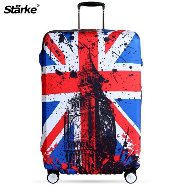 E&J【010001-04】Starke高彈性行李箱套-倫敦國旗;適用26-29吋防塵套防刮行李箱保護套