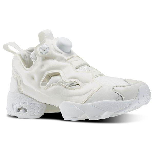 《限時特價↘7折免運》REEBOK INSTA PUMP FURY GALLERY 白魂 女鞋 慢跑鞋 爆裂紋 米白 全白 【運動世界】 AQ9360