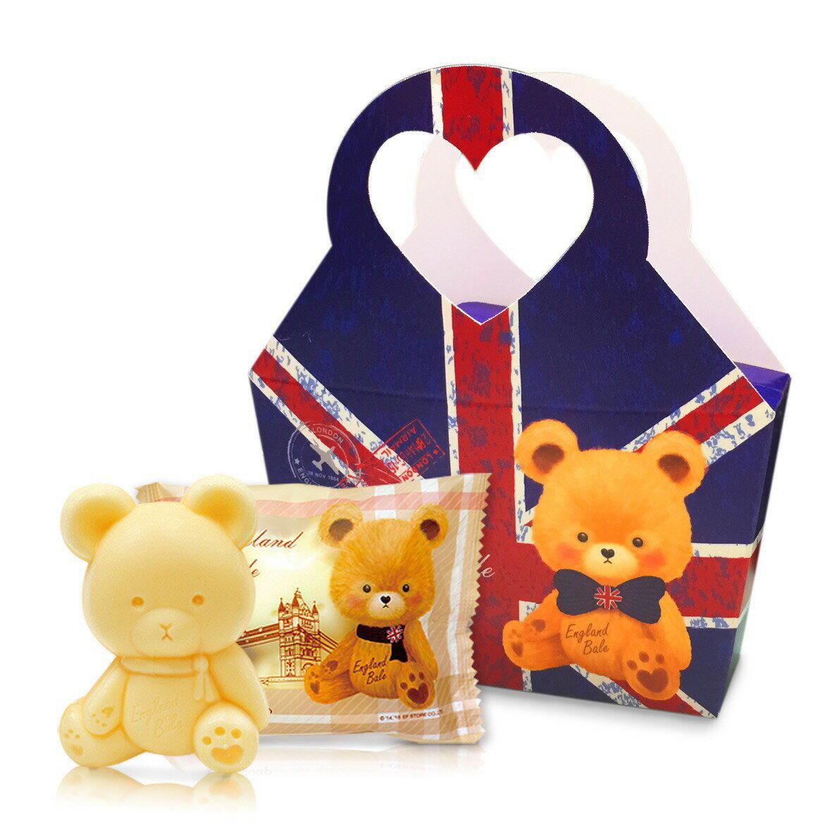 英倫貝爾小熊香氛抗菌皂-國旗款 個別造型提盒包裝 適合婚禮小物/送客禮/贈品