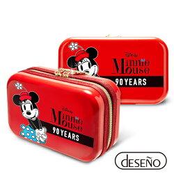【加賀皮件】Deseno Disney 迪士尼 米奇系列 90週年 限量 紀念 手拿包 收納盥洗包 化妝包 航空硬殼包 201 米妮紅