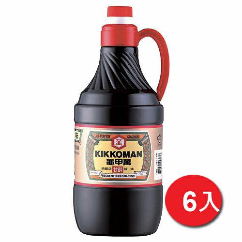 統一龜甲萬甘醇醬油1.6L*6【愛買】