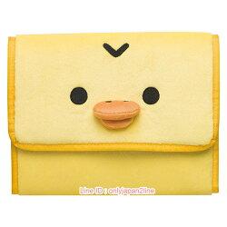 【真愛日本】17022400092  絨毛萬用多功能夾-大臉小雞   SAN-X 懶熊  奶熊 拉拉熊   收納袋  萬用袋