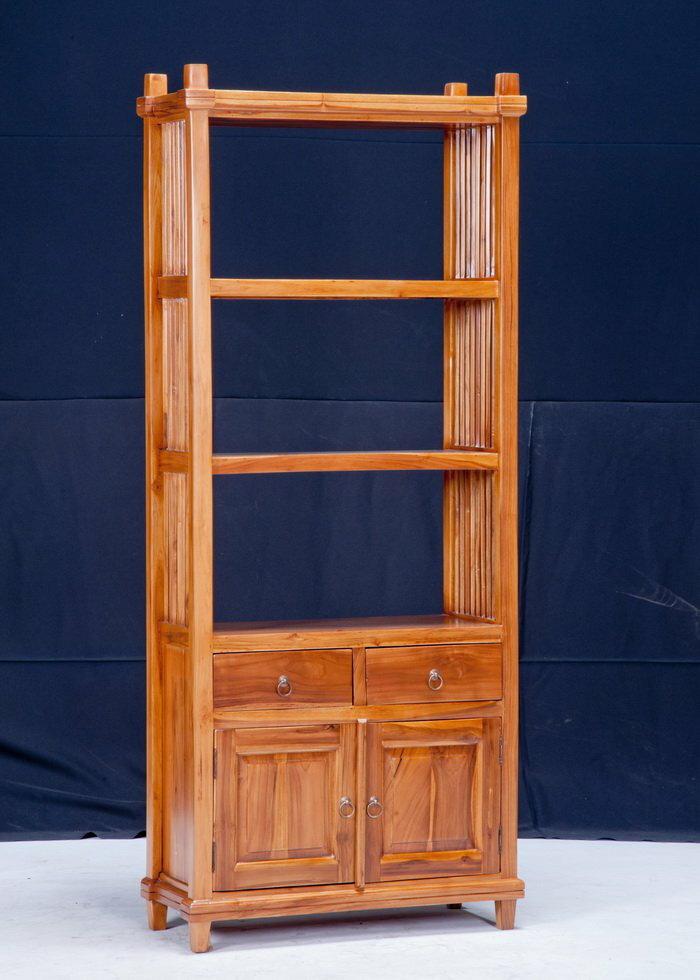 【石川家居】KL-105 柚木板門書櫃/置物櫃/開放式書架/展示櫃 需搭配車趟費