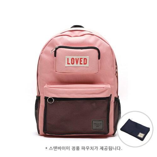 【獨家商品】韓國潮牌 STANd.BY.ME 154 網袋後背包 書包 電腦包 5