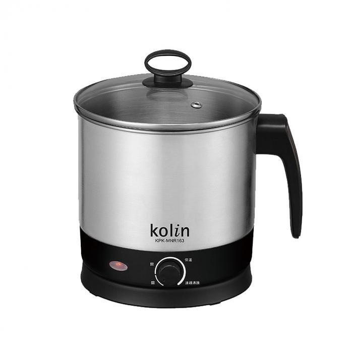 《省您錢購物網》福利品~歌林Kolin 1.6L 單柄不鏽鋼美食鍋(KPK-MNR163)附蒸架、蒸籠