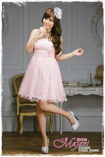 [瑪嘉妮Majani]- 甜美 氣質 大尺碼小禮服 伴娘服 宴會 約會 L~3XL 特價590元免運 ld-103